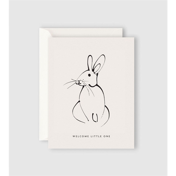 Father Rabbit Welcome Little One Rabbit Card