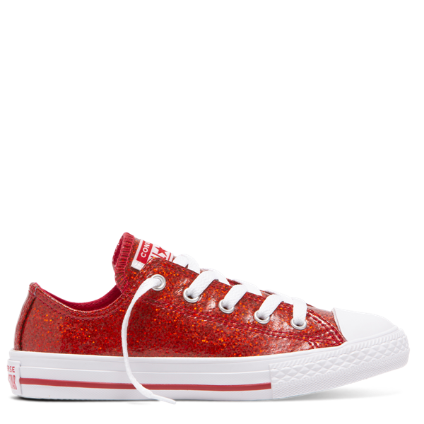 Converse Kids Chuck Taylors Party Dress Low Red