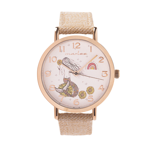 Marlee Linen Strap Watch