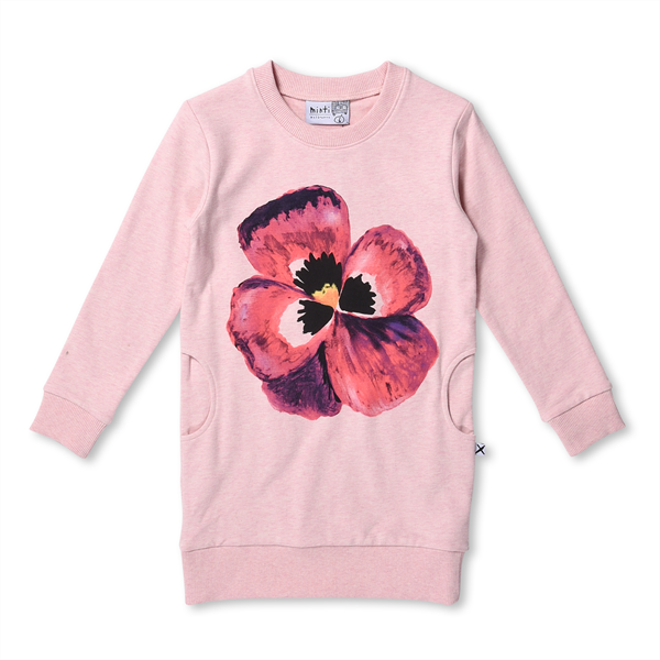 Minti Painted Pansy Crew Dress