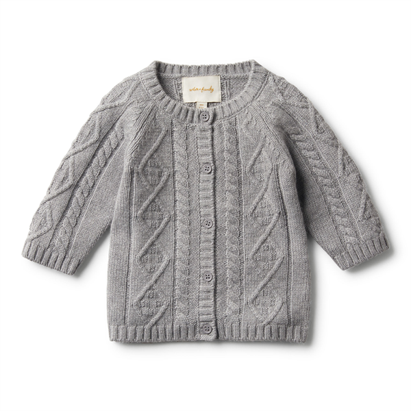 Wilson & Frenchy Cable Knit Cardigan - Luxe