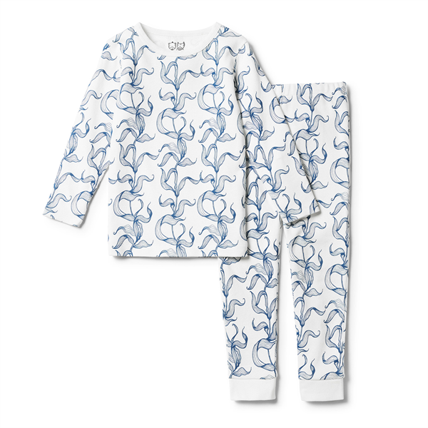 Wilson & Frenchy Sea Grass Organic Long Sleeve PJ Set