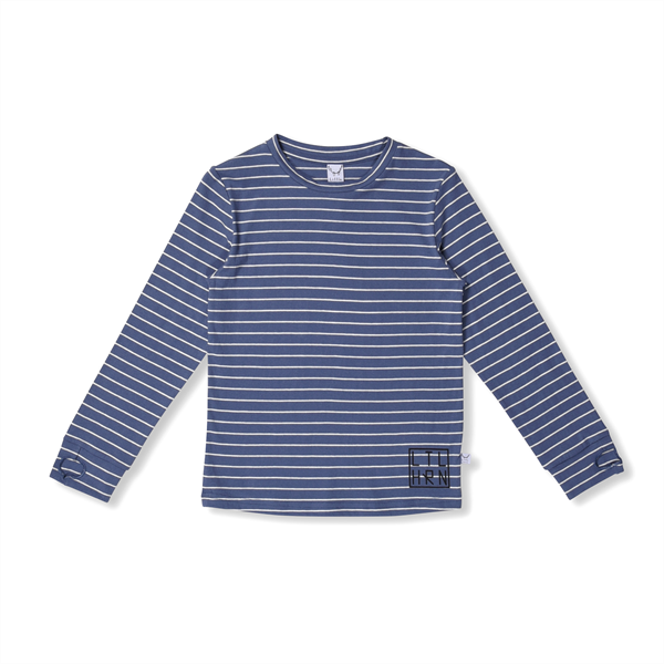 Littlehorn Blue Stripe Thumbhole Tee