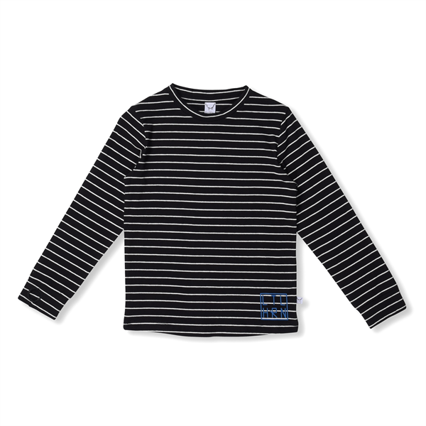 Littlehorn Black Stripe Thumbhole Tee