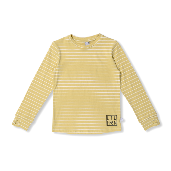 Littlehorn Yellow Stripe Thumbhole Tee