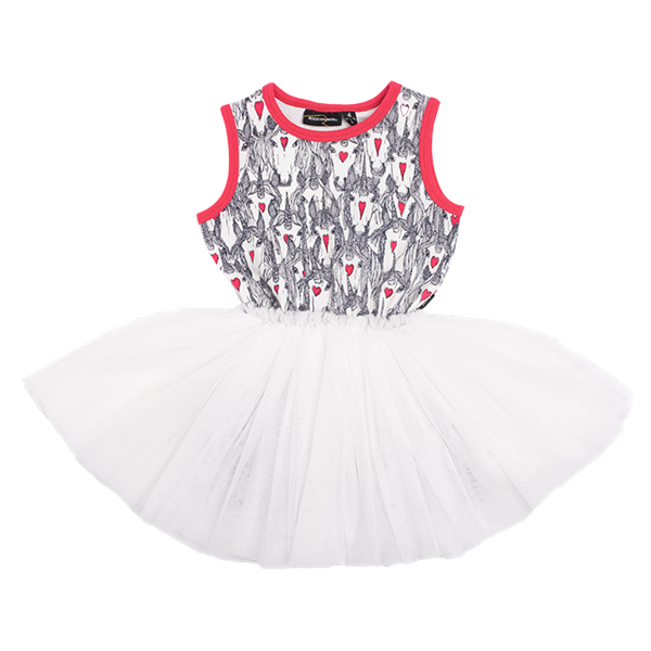 Rock Your Kid Unicorn Love Singlet Circus Dress