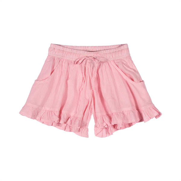 Paper Wings Pink Stripe Frilled Shorts