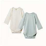 Nature Baby LS Bodysuit Derby 2 Pack-bodysuits-and-rompers-Bambini
