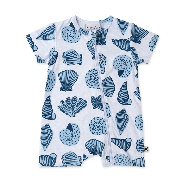 Minti Baby Seashells Zippy Suit