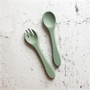 Over The Dandelions Silicome Fork and Spoon Set-baby-Bambini