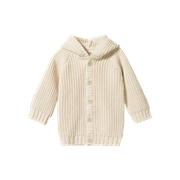 Nature Baby Oak Chunky Knit Hoodie-jackets-and-cardigans-Bambini