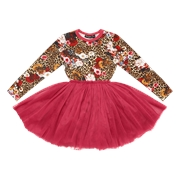 Rock Your Kid Leopard Floral Circus Dress-rock-your-baby-Bambini
