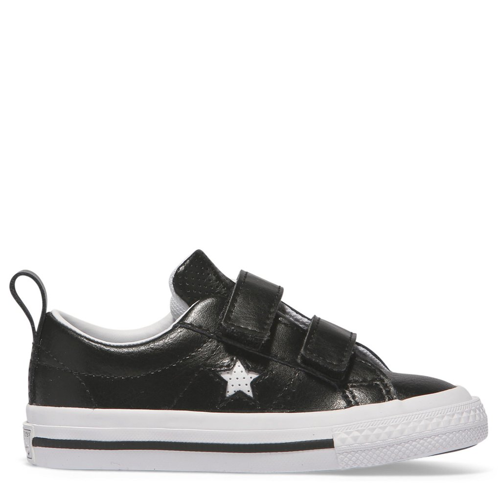 Converse black leather low one star - Girls Footwear : Bambini ...